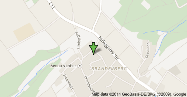 Map of Brandenberger Straße 66, 52393 Hürtgenwald